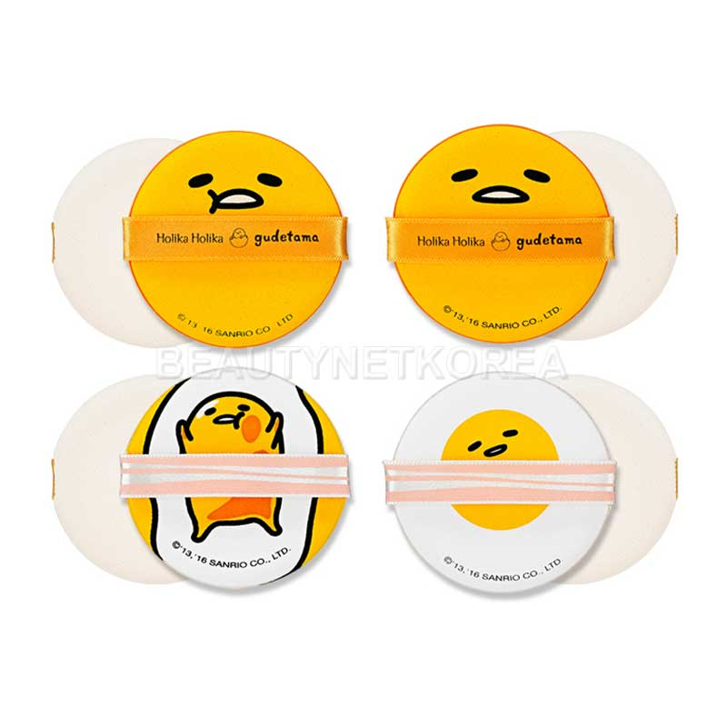 HOLIKA HOLIKA Gudetama LAZY & EASY Chap Chap Cushion Puff 4EA (Weight : 35g)