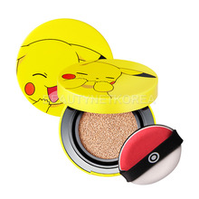 [TONYMOLY] Pokemon Pikachu Mini Cover Cushion (SPF50+/PA+++) 9g 2 Color (Weight : 53g)
