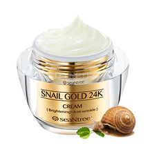 [SEANTREE] Snail Gold 24K Cream 50g / Elastic skin (Weight : 286g)