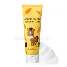 [SEANTREE] Horse Oil 100 Cleansing Foam 120ml (Weight : 148g)